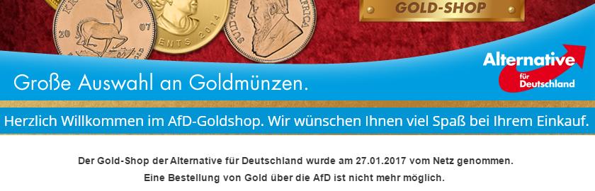 Gold kaufen geht bei der AfD nicht mehr