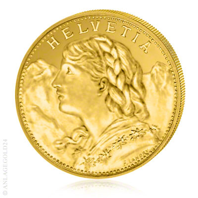 Schweizer Gold Vreneli SNB