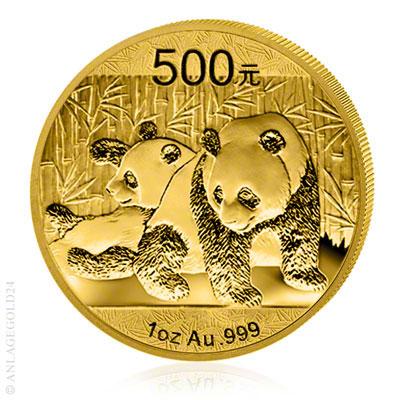 Goldpanda-Muenze-China