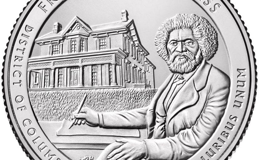 Neue 5 oz Silbermünze USA ATB Frederick Douglass 2017 lieferbar