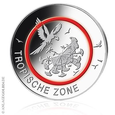 Tropische-Zone-Muenze-5-Euro-mit-Polymerring