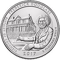 5 oz Silbermünze Frederick Douglass ATB 2017 USA