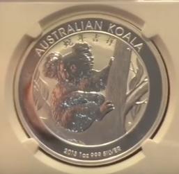 Koala China Privy Mark 2013 Silber