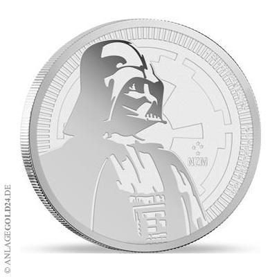 Darth Vader Silbermünze 1 oz 2017 – neue Bullionmünze zu STAR WARS schlägt ein wie eine Bombe