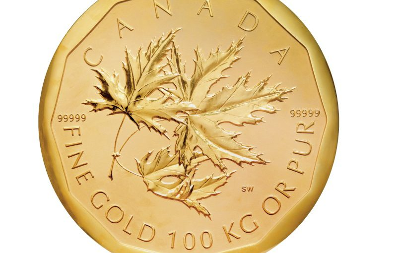 Goldmünze Bode Museum 100kg Maple Leaf