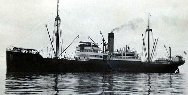 So ähnlich sah die SS Minden aus - Abbildung zeigt das baugleiche Schwesterschiff SS Porta