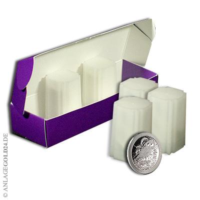 purple box mit 100x eule von athen 2017 silber