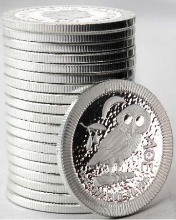 Eule aus Athen Silbermünze kommt gut an