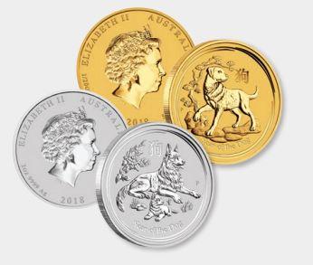 2018-hund-lunarmuenzen-gold-silber-australien
