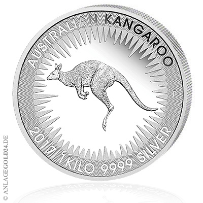 Känguru 1kg Silber 2017 Perth Mint