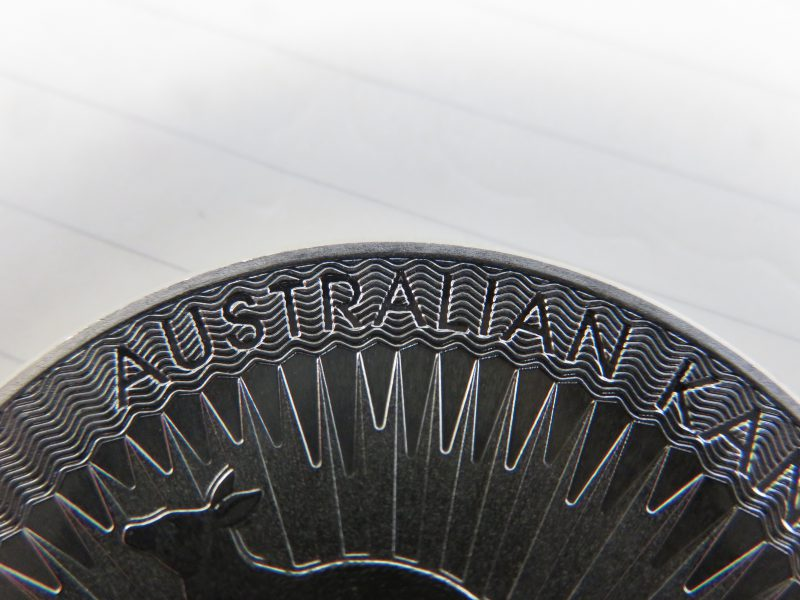Känguru 2018 Australian Sicherheitsfeature Münze