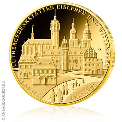 100 Euro Goldmünze Luthergedenkstätten Eisleben/Wittenberg 2017 – Neuerscheinung