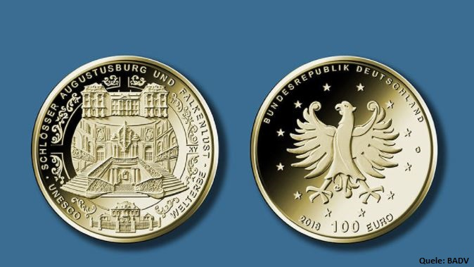 Ausgabeplan Deutsche Münzen 2018 – 100 Euro, 50 Euro u.a.