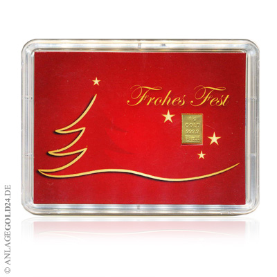 Goldbarren Weihnachten