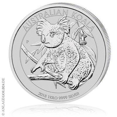 Koala 2018 1kg Silbermünze stark gefragt