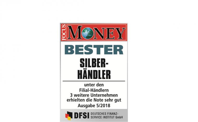 Bester Silberhändler in Deutschland: GfM ist mit Anlagegold24 Testsieger im Focus Money Test