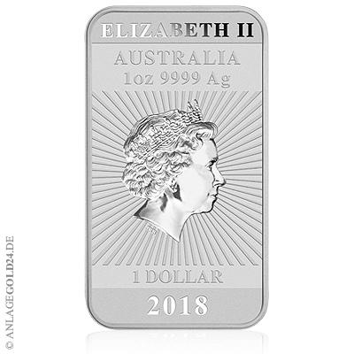 Münzbarren Australien Perth Mint 1oz Silber 2018
