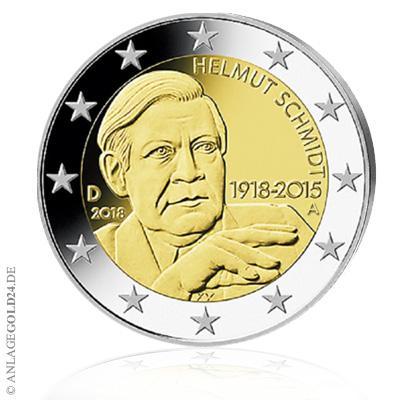 Helmut Schmidt 2 Euro Münze 2018