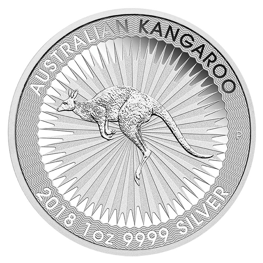 Einer der Hauptumsatzträger der Perth Mint: Känguru Silbermünze 2018 1oz Silber