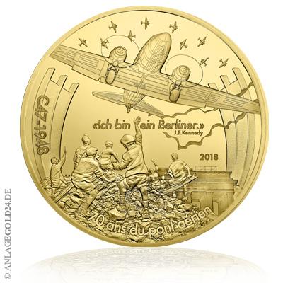 5 oz Luftbrücke Frankreich 500 Euro 2018 Goldmünze
