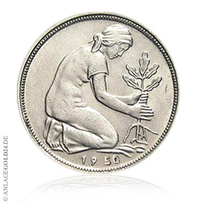 50 Pfennig 1950 Bank Deutscher Länder Noch In Der Krimskrams