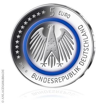 5 Euro Tropische Zone Münze Auf Dem Weg Nach Oben Preis Steigt
