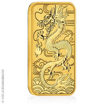 Dragon Rectangular Drachen Gold Australien 2018 1oz