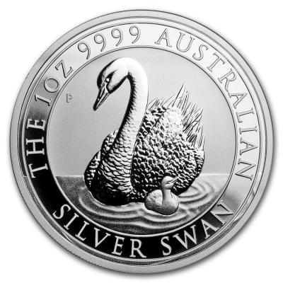 Schwan 1oz Silbermünze 2018 aus Australien im Anflug