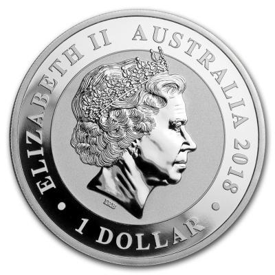 Schwan Silber Münze 2018 Queen 1 oz