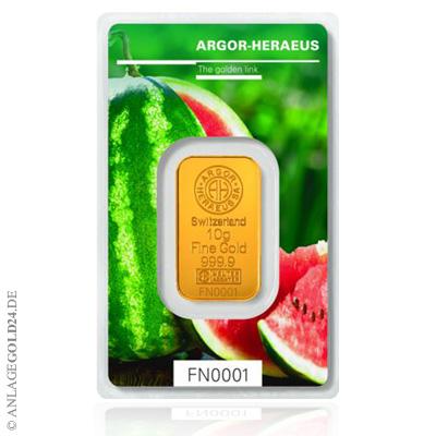 Pünktlich zum Sommerbeginn: Die Sommer-Goldbarren von Argor-Heraeus