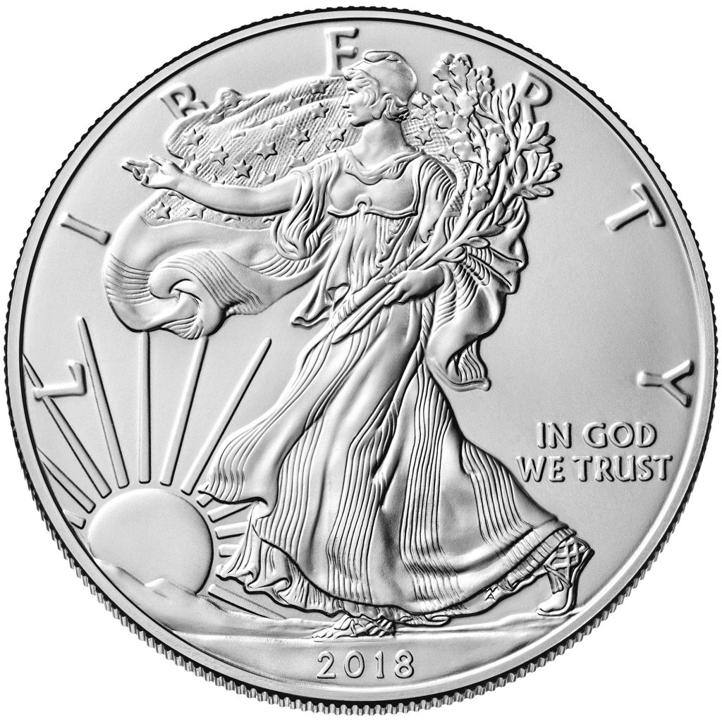 usa eagle silbermünze 2018 1oz