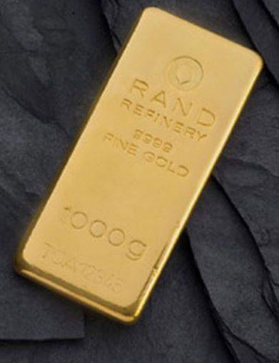 Goldbarren Rand Refinery Südafrika Goldmine