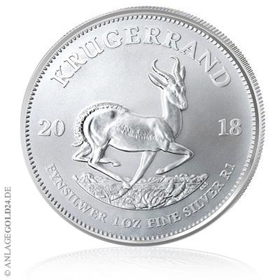 Krügerrand Silber 2018 1oz Münze