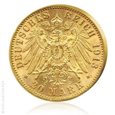 Kaiserreich Goldmünzen 20 Mark
