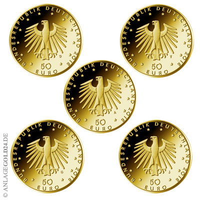 Kontrabass Komplettsatz Goldmünzen 2018