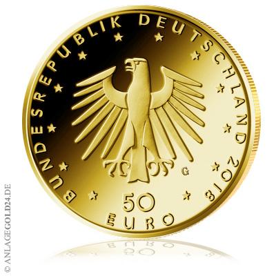 Kontrabass 50 Euro Goldmünze 2018 Deutschland