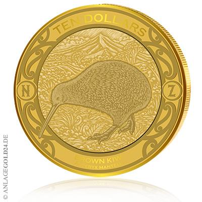 Kiwi 2019 Goldmünze Neuseeland