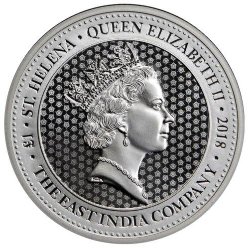 St.Helena Spade Guinea Shield Silber 2018