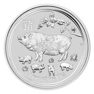 Schwein Silbermünze Australien 2019 1 oz