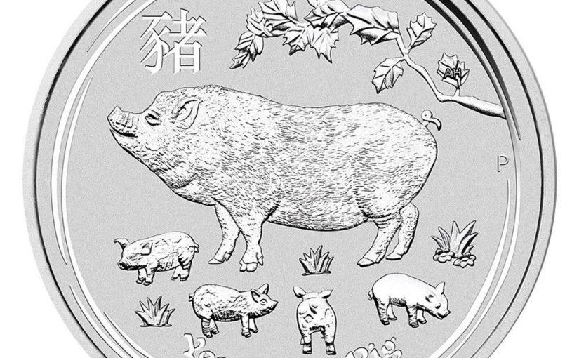 Schwein Silbermünze und Goldmünze 2019 dürfen ab heute verkauft werden – Australien