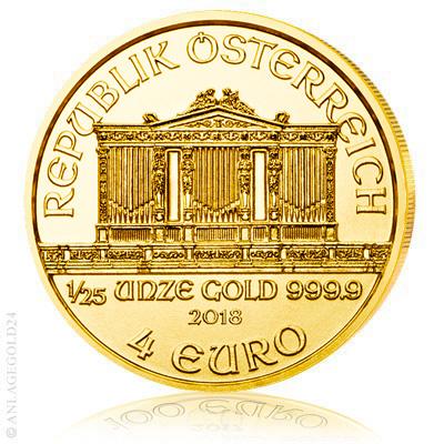 Wiener Philharmoniker Goldmünze 1/25