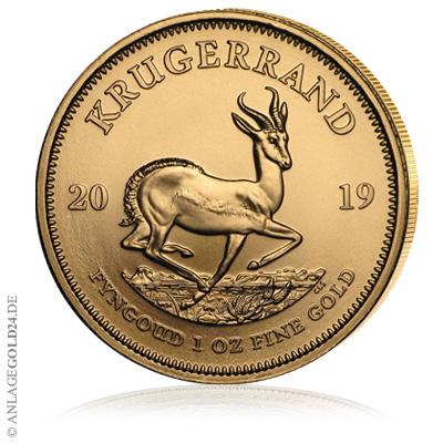 Krügerrand profitiert vom steigenden Goldpreis