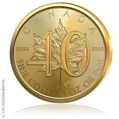 Gold Maple Leaf 2019 40 Jahre Jubiläum