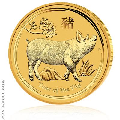 Schwein Goldmünze Australien 2019