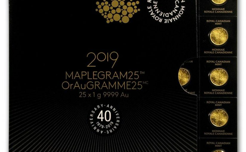 Maplegram 2019 Maple Leaf Goldmünzen 1 Gramm