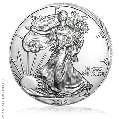 silbereagle Silber Eagle Liberty USA 2019