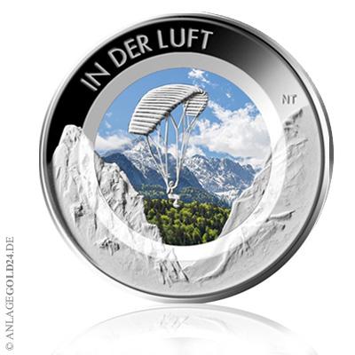 10 Euro In der Luft Farbe coloriert 2019