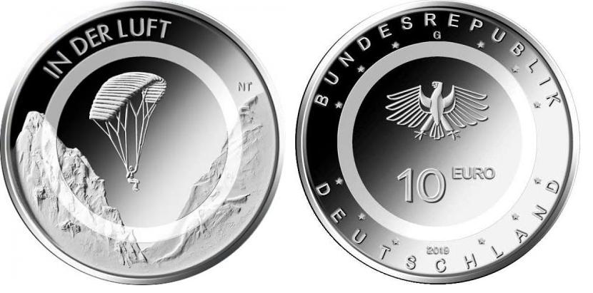 10 Euro Münze In der Luft 2019 Deutschland