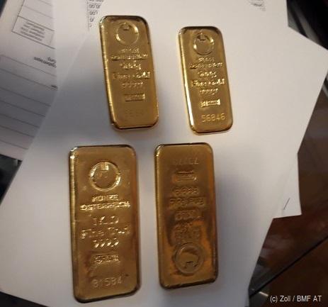 Goldbarren der Münze Österreich