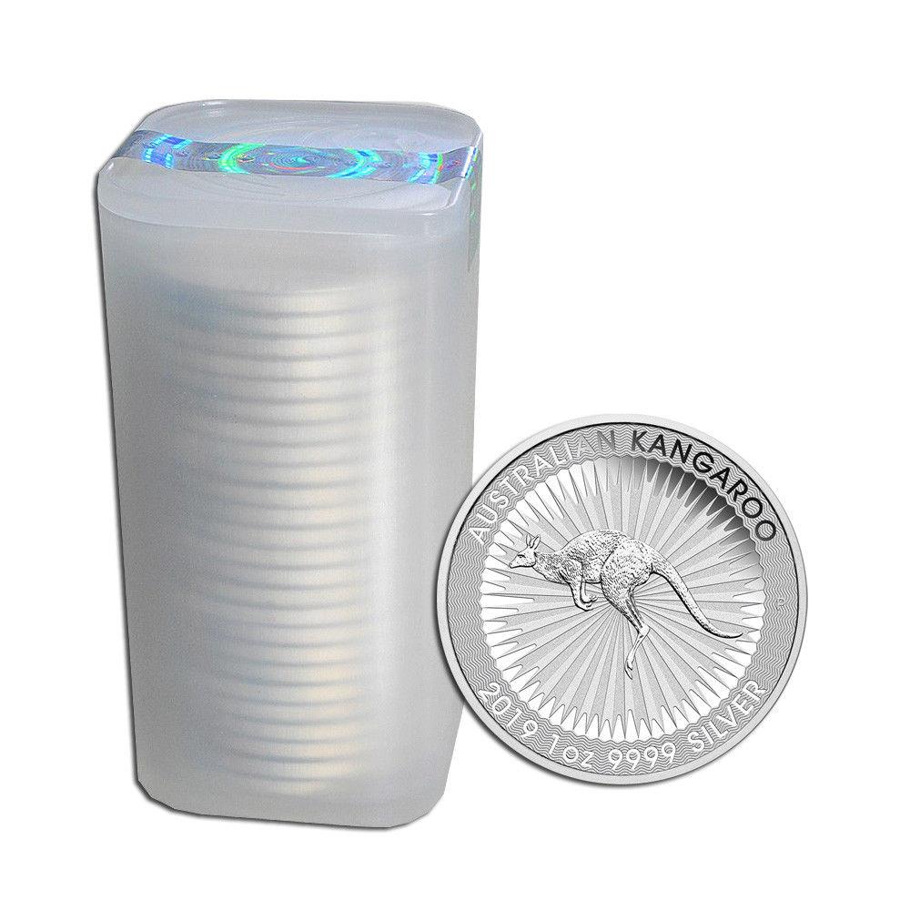 tube mit Känguru Silbermünzen Australien